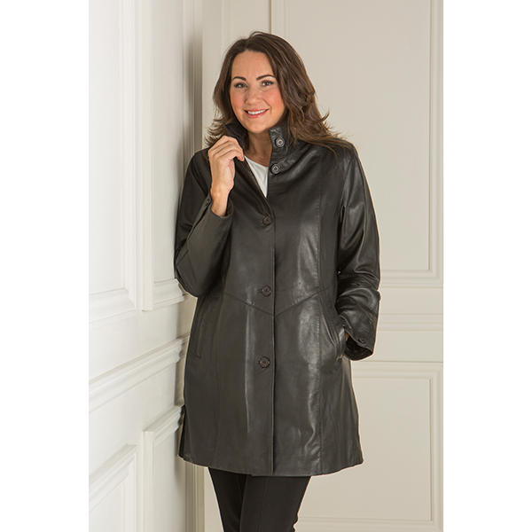 10% off Woodland Leather Ladies Drawstring Parka with