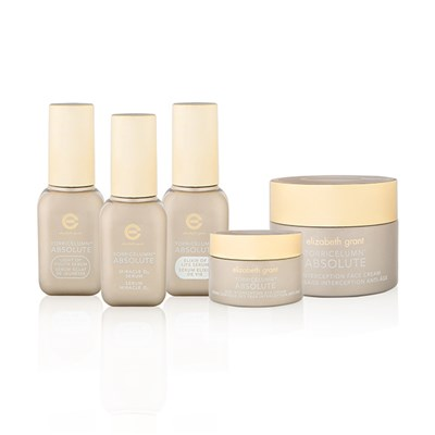 Elizabeth Grant Torricelumn Absolute 5pc Skincare Collection Face Cream Day & Night, Eye Cream, Night Serum, Day Serum, Miracle Serum