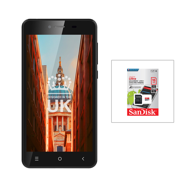 STK Sync 5z 5inch Quad Core Smartphone and SanDisk 16GB MicroSD Card