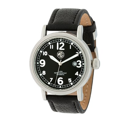 MG Gent's Automatic Watch with Genuine Leather Strap