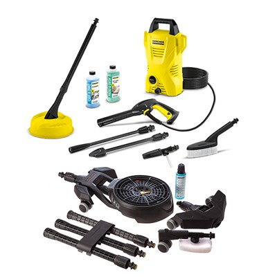 Karcher K2 Compact Home and Car with Under Car Chassis Cleaner Cleaning Kit