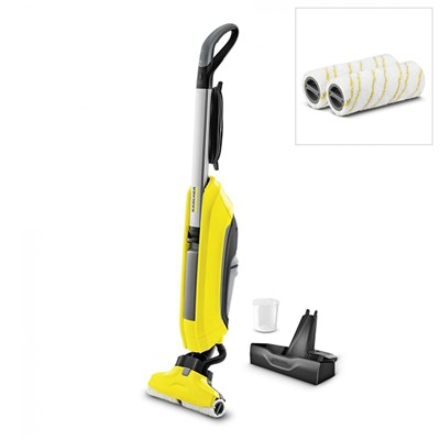 Karcher FC5 Hardfloor Cleaner with Stand and 2x Cleaning Rollers