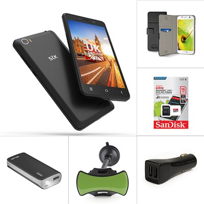 STK Sync 5z, 16GB MicroSD Card, Trust 4400mAh Power Bank/ Torch, Car Charger, Grip N Go Dash Mount and SBS Case