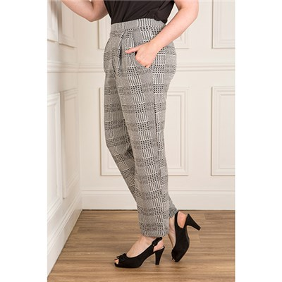 Nicole Dogtooth Check Trouser with Pockets