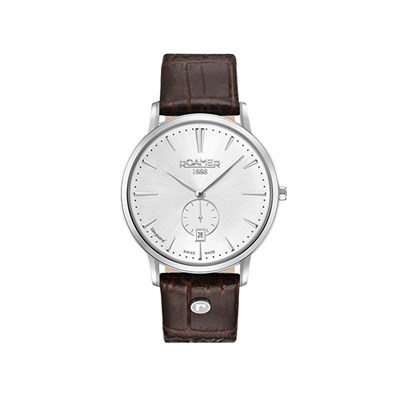 Roamer of Switzerland Gent's Vanguard Slim Watch with Genuine Leather Strap