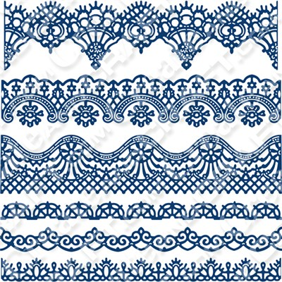 Tattered Lace Vintage Lace Borders Die Set