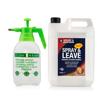 Spear & Jackson Spray and Leave 5L with 2L Pressure Sprayer