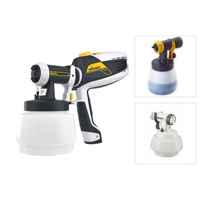 Wagner W525 FLEXiO Universal Sprayer with Textured Attachment, Wallperfect and Wood and Metal Attachment