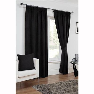 Faux Suede (46 inches x) 3 Inch Lined Tape Header Curtains