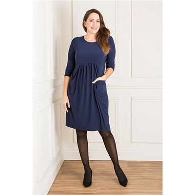 Nicole Gathered Drape Pocket Dress