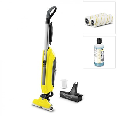 Karcher FC5 Hardfloor Cleaner with Stand & 2 x Cleaning Rollers & 1 x Bottle of Multipurpose Detergent