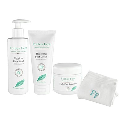 Forbes Feet Gift Pack - Foot Wash 200ml, Foot Cream 100ml, Night Treatment 50ml and Cotton Socks