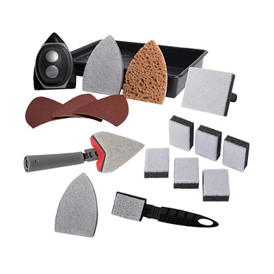 Brushmaster Decorating Kit 1 - Sander and Paint Kit, Paint Pads and Refills, Tray and Adjustable Corner Pad