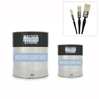 Walther Strong Pro Liquid Tape 250ml and 750ml Plus 3 Arden Brushes
