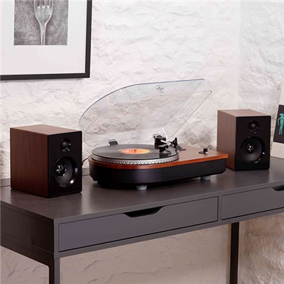 Steepletone Camden Professional Wood Effect Record Player with Bluetooth Playback