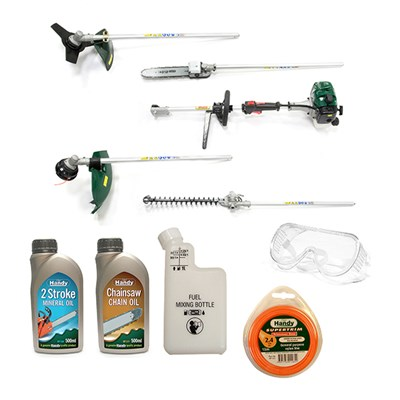 Webb WEMC26 4-in-1 Petrol Multi Cutter Mega Bundle