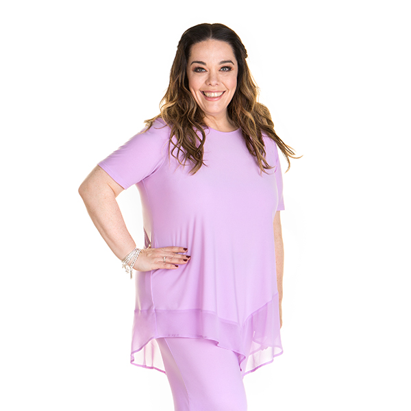 Just Be You Chiffon Hem Tunic Lilac