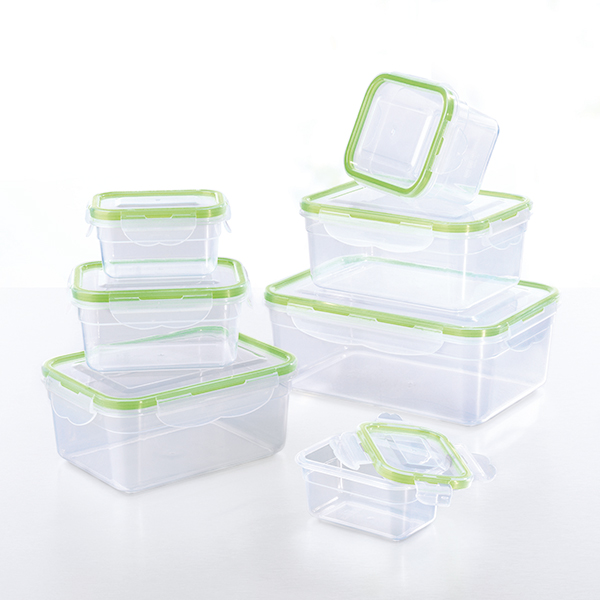 GOURMETmaxx Click-It Food Container 7pc Set Green