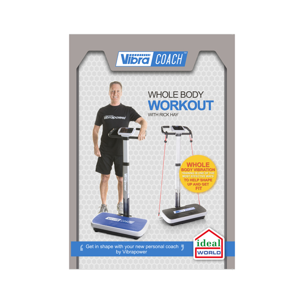 Vibrapower Coach with Voice Assisted Programmes, Detachable Mast, 2 sets of  Resistance Bands & Wallchart with FREE Vibrapower Coach DVD