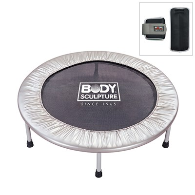 Body Sculpture Aerobic Bouncer with Set of 2x 1lb Ankle or Wrist Weights