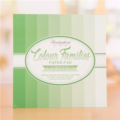 Hunkydory Colour Families Paper Pad � Green