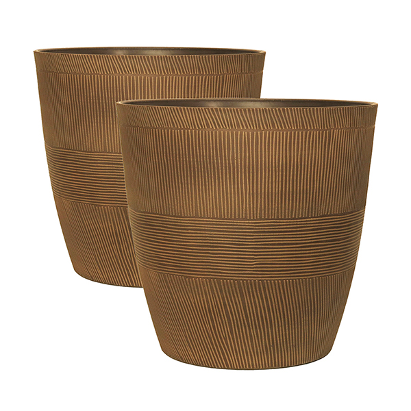 Sand Thatched Planters 10 Inch Caramel (Pair) No Colour