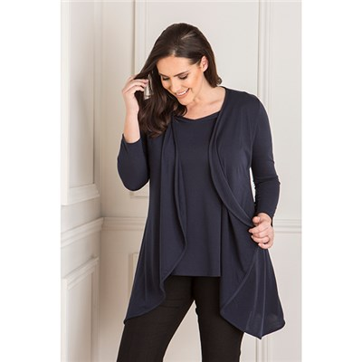 Nicole Super Soft Short Sleeve Top and Soft Jacket