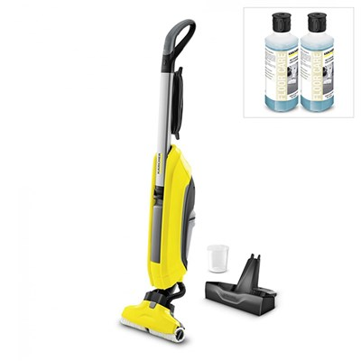 Karcher FC5 Hardfloor Cleaner with Stand and 2x Multipurpose Detergent