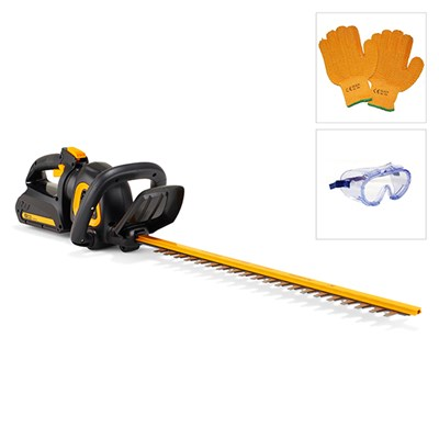 McCulloch 40V Hedge Trimmer With Gloves and Goggles