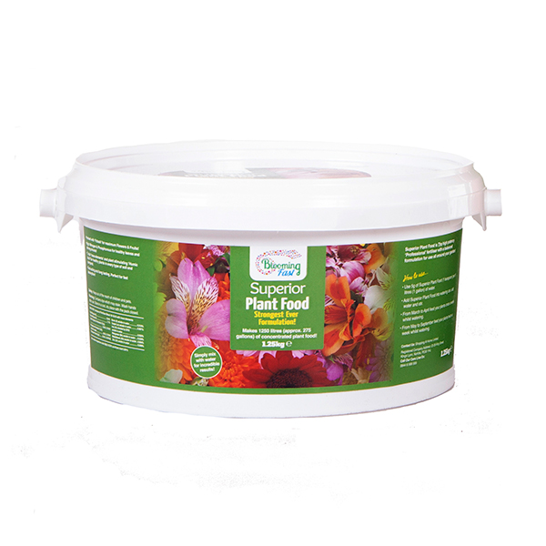 Blooming Fast Superior Soluble Fertiliser 1.25kg Tub No Colour