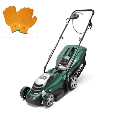 Webb 33cm 13 inch Push Electric Rotary Mower with Gloves