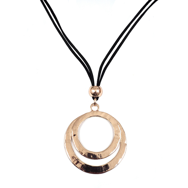 Double Effect Ring Cord Necklace