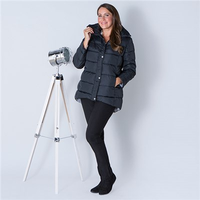 Padded Coat with Concealed Hood