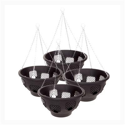 Set of 4 x 36cm (14in) Easy Fill Hanging Baskets - 8 Gates