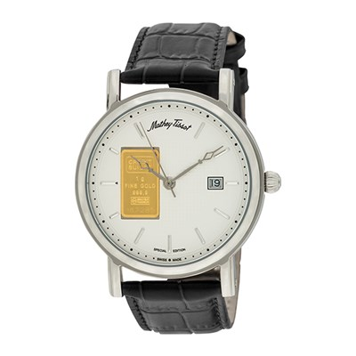 Mathey-Tissot Gent's Ingot Watch with Genuine Leather Strap