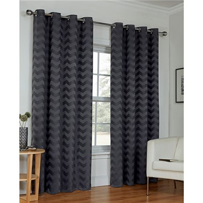 Zig Zag (90 inches x) Ring Top Curtains