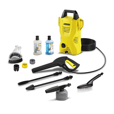 Karcher K2 Compact Car Plus Splash Guard and 2 x 1L Detergents