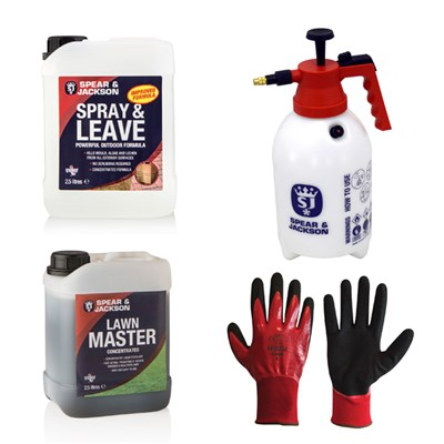 Spear & Jackson 2.5L Lawn Master, 2.5L Spray & Leave, 2L Sprayer Plus Gloves