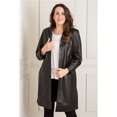 Woodland Leather Edge to Edge Duster Coat