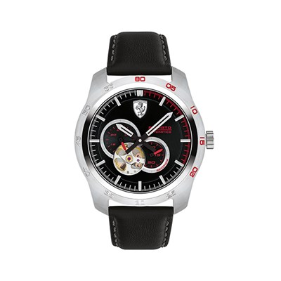 Scuderia Ferrari Gent's Primato Automatic Watch with Genuine Leather Strap with FREE Computer Sleeve