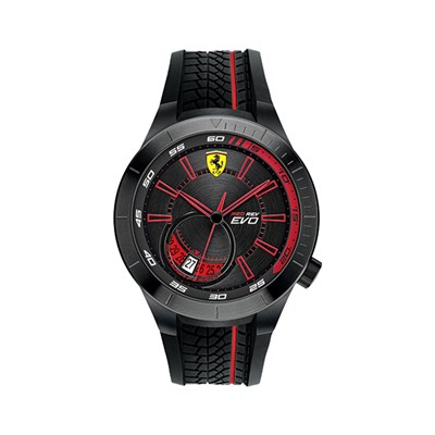 Scuderia Ferrari Gent's Red Rev Evo Watch with Silicone Strap with FREE Flag