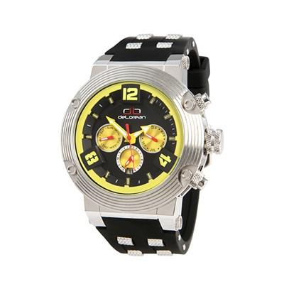 deLorean Gent's Limited Edition Automatic Frame Watch with Metal Insert Silicone Strap