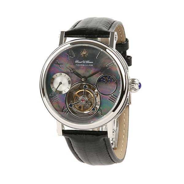 Raoul. U.Braun Gent's Tourbillon Watch with MOP Dial and Genuine Leather Strap