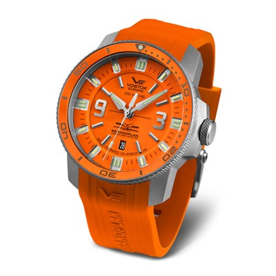 Vostok Europe Gents Automatic Ekranoplan Watch with Silicone Strap