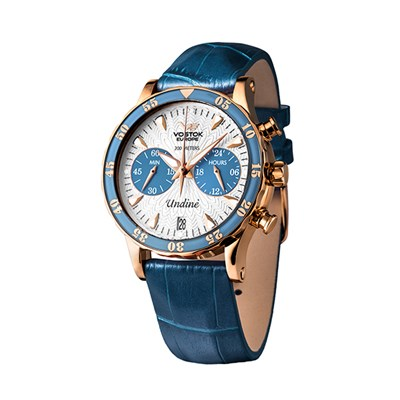 Vostok Europe Ladies' Undine Chronograph Watch with PVD Case and Interchangeable Straps