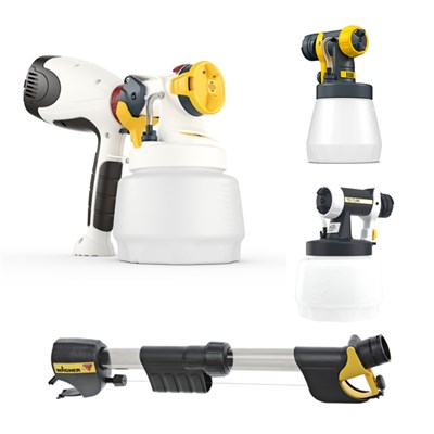 Wagner W400 with 1300ml Attachment, TexPerfect Attachment, Wood and Metal Attachment and Handle Extension
