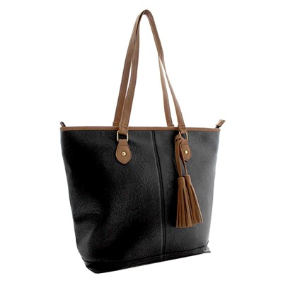 Contrast Trim Shopper Bag