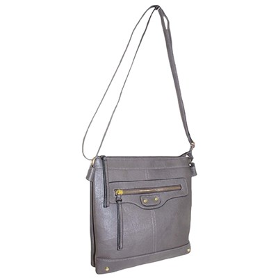 Messenger Bag with Zip Detail
