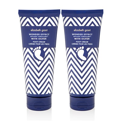 Elizabeth Grant Wonder Effect Foot Cream with Silver 200ml (Twin Pack)