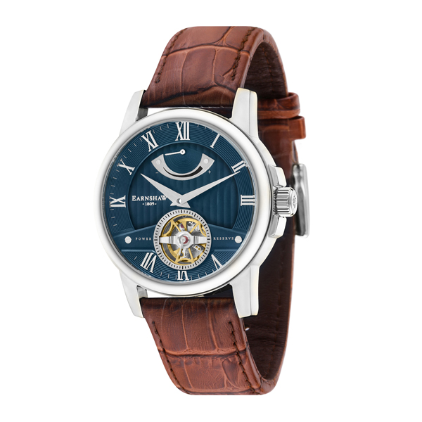 Thomas Earnshaw Gent's Flinders Automatic Watch with Genuine Leather Strap Blue